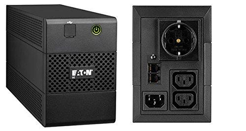 Eaton 5E 850 USB DIN USV (850VA / 480W, Line-Interactive, 2X IEC320/C13, 1x Schuko, USB)
