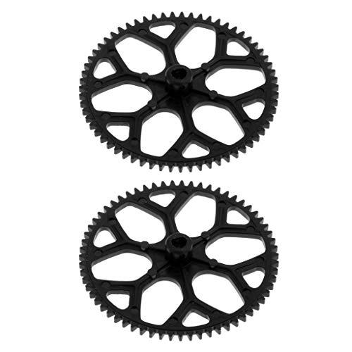 Sharplace 2 Stücke Kunststoff Hauptgetriebe Getriebe Zahnrad Ersatzteile für Wltoys Xk K120