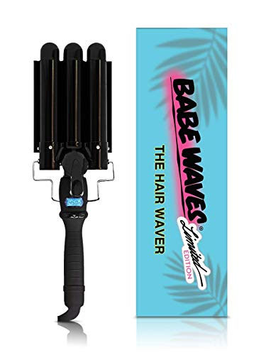 Babe Waves Limited Edition Hair Curling Wand   Triple Barrel Waving Iron   Trademark Beauty Dual Voltage Hair Waver (28mm Limited Edition)