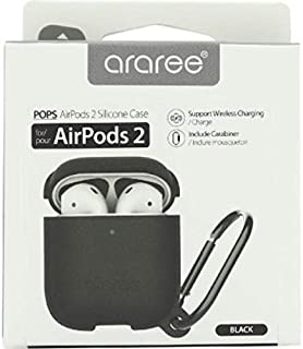 Araree POPS Headset Case, for (Apple) AirPods, Black