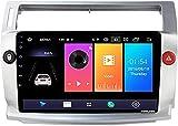 9 Pulgadas Android 8.1 Auto Radio Car Stereo Radio para Citroen C4 C-Triomphe C-Quatre 2004-2009, Navegación GPS/Bluetooth/FM/Control del Volante/Cámara Trasera