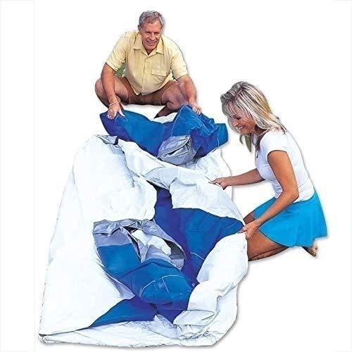 RVTYR Rindasr al Aire Libre Gran Patio Piscina Inflable, 3-Capa Espesa de PVC, 144 Pulgadas Azul Piscina Redonda picinas hinchables niños (Size : 305x76cm)