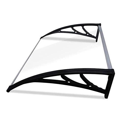 WXQ Eingangstür EIN Überdach Vordach Haustür Überdachung Polycarbonat Transparentes Vordach Außentür Markise Haustürvordach Pultvordach (Color : Clear, Size : 60cmx120cm)
