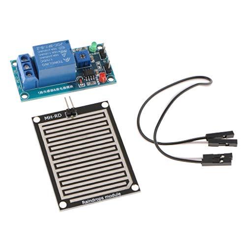 Gazechimp Arduino Regensensor Modul Regentropfenmelder Relaissteuermodul 12V
