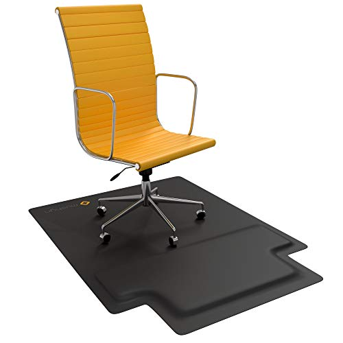 Office Chair Mat with Anti Fatigue Cushioned Foam - Chair Mat for Hardwood Floor with Foot Rest Under Desk - 2 in 1 Chairmat Standing Desk Anti-Fatigue Comfort Mat