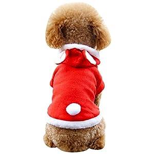 Chien chiot hiver Manteau capuche gilet Noël , habits chien,vêtements pour chiens, habit de neige