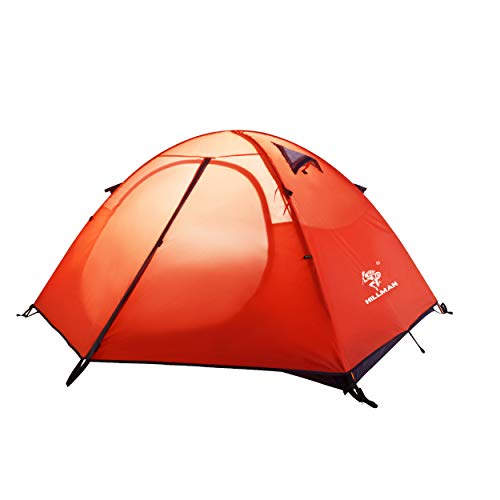 Azarxis 2 Posti Tenda da Campeggio, 3 Stagioni Tenda Ultraleggera da Trekking Spiaggia Montagna Escursionismo Alpinismo (Arancione)