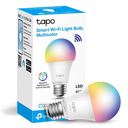 TP-LINK Tapo Smart Birne Smart Wi-Fi LED Licht E27 8.7W Funktioniert mit Amazon Alexa (Echo und Echo Dot) und Google Home, Farbwechselbar, kein Hub erforderlich (Tapo L530E) [Energieklasse A+]