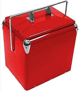 retro steel cooler