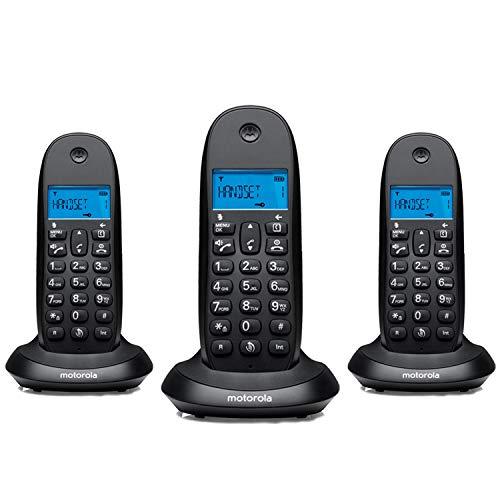 MOTOROLA - Telefono inalambrico dect c1003 trio negro #4517