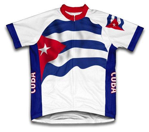 ScudoPro Cuba Flag Maillot Cycliste à Manches Courtes pour Hommes -