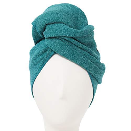AQUIS - Toalla de pelo original, ultra absorbente y de secado rápido, toalla de microfibra para cabello fino y delicado, selva (19 x 39 pulgadas)