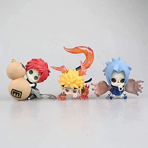 Naruto 3 ZUMAKI Naruto Uchiha Sasuke Gaara Q VERSIÓN Cambio Cambio Cambiar Caja DE Caja DE Caja DE PVC Material DE PVC ANIMIENTO Figura Anime Modelo Modelo Modelo Modelo DE Juguete CAJEDA Estatua
