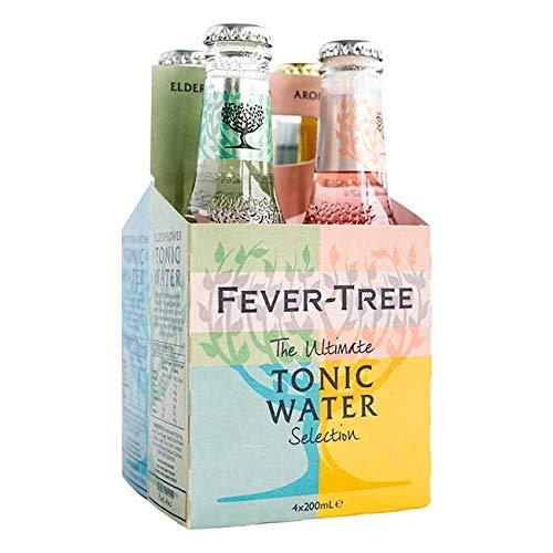 Fever-Tree Set Tonic Water, 1x Mediterranean, 1 x Premium Indian, 1 x Aromatic, 1 x Elderflower (4 Flaschen Mix)