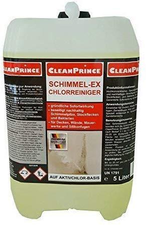 Cleanprince 5 Liter Schimmel-Ex Chlorreiniger Schimmelex Schimmelentferner...