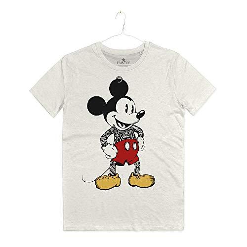 INSIDETSHIRT Maglietta Uomo Topolino Tattutao Old School Mickey Mouse Tattoo T-Shirt