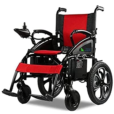 Culver All Terrain Heavy Duty Powerful Dual Motor Foldable Electric Wheelchair Motorized Power Wheelchairs Silla de Ruedas Electrica para Adultos. Supports up to 300 lbs - (Red) from SHENZHEN CHITADO TECHNOLOGY CO LTD