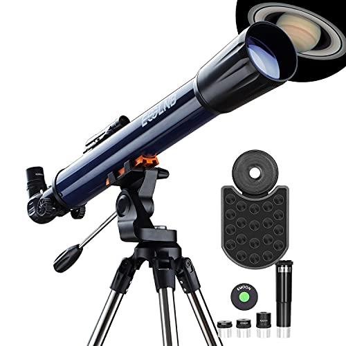 ESSLNB Teleskop Sterne 525X Vergrößerung 70/700 Fernrohr Teleskop Kinder Einsteiger mit Smartphone Adapter Stativ Mondfilter