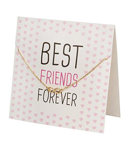 'SIX Regalo Mini Regalo di Carta Best Friends Forever & Dorato Braccialetto con Infinity Simbolo di Infinito Simbolo (480–585)
