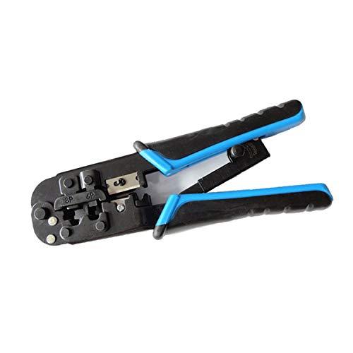 YXZQ Herramienta Que Prensa Engarzador de Cable de Red, 8P8C / RJ45, 6P6C / RJ-12, 6P4C / RJ-11 Telecom RJ45 Alicate de engarce Cable de teléfono Herramienta de engarce Modular Universal