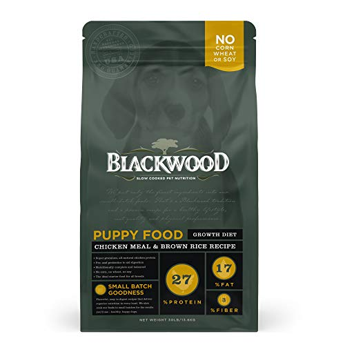 Blackwood Pet Food Puppy Dry Dog Food Growth Diet [Natural Dog Food For All Breeds and Sizes of Puppies], Chicken Meal & Brown Rice Recipe, 30 lb. bag, Chicken Meal and Brown Rice Puppy Food