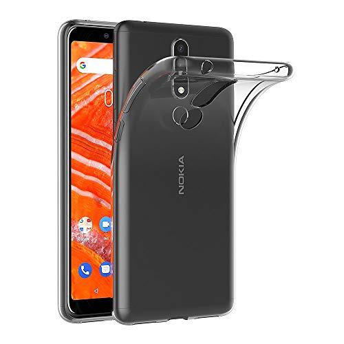 AICEK Hülle Compatible für Nokia 3.1 Plus Transparent Silikon Schutzhülle für Nokia 3.1 Plus Case Clear Durchsichtige TPU Bumper Nokia 3.1 Plus Handyhülle (6,0 Zoll)