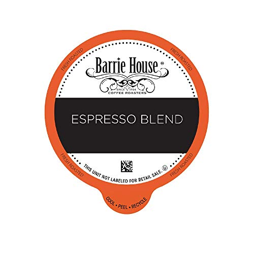 Barrie House Bulk Quantity Value Pack Single Serve Coffee Pods, 80 Count   Espresso Blend   Compatible With Keurig K Cup Brewers   Small Batch Artisan Coffee in Convenient Single Cup Capsules