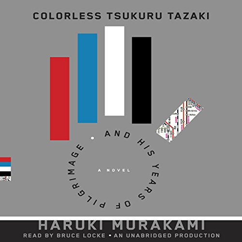 Colorless Tsukuru Tazaki and his Years of Pilgrimage     A novel              By:                                                                                                                                 Haruki Murakami,                                                                                        Philip Gabriel (translator)                               Narrated by:                                                                                                                                 Bruce Locke                      Length: 10 hrs and 9 mins     1,118 ratings     Overall 4.1
