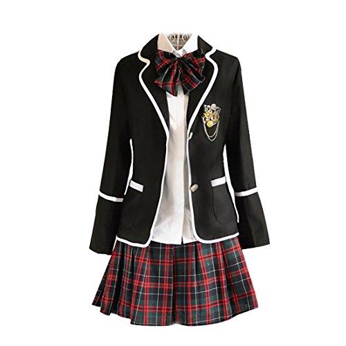 URSFUR Womens British Style Japan School Uniform Sets Cosplay Costume Anime Girl