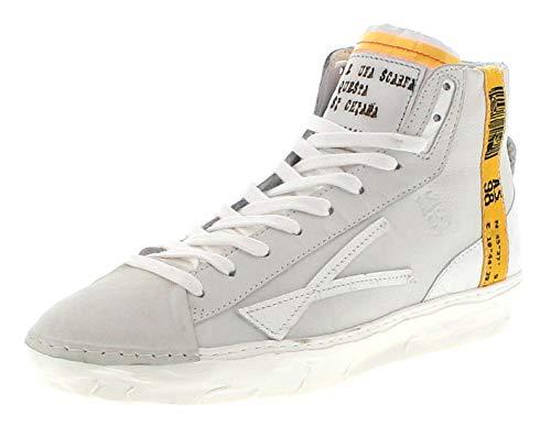 FB Fashion Boots Herren Sneaker A.S.98 453219 Bianco High Top Schnürschuhe Weiss 42 EU inkl. Schuhdeo