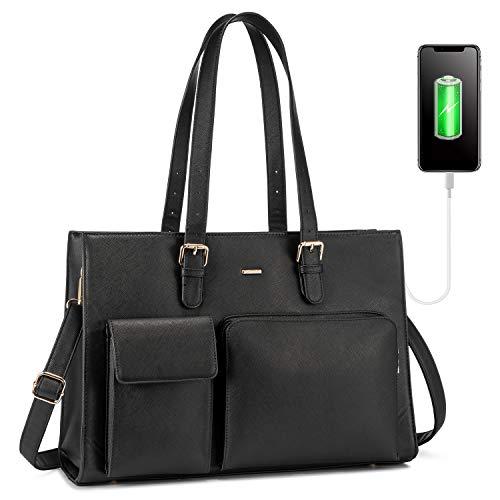 LOVEVOOK Handtasche Damen Shopper Damen Groß Laptop Tasche 15.6 Zoll...