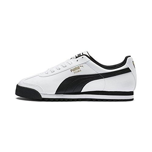 Puma Roma Basic, Herren Sneaker, Weiß (white-black), 45 EU (10.5 UK)