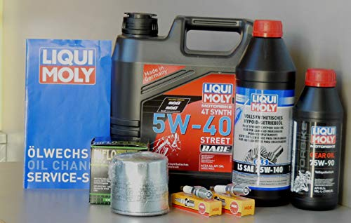 MotorFunSports Kit d'entretien pour BMW R 1150 R avec filtre à huile, bougie d'allumage, service d'inspection