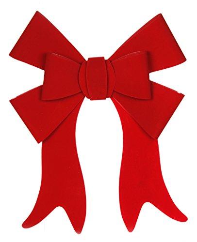 Darice Stylized 6-Loop PVC Red Velvet Christmas Bow - 19 X 22'