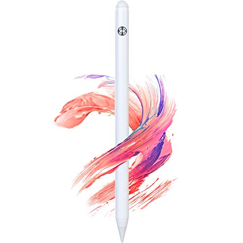 """Stylus Pen for iPad with Palm Rejection Replaceable Nib Fine Point Smooth Pixel Level Precision Touch Control for iPad Pro 12.9"""" 3rd/4th 11"""" 1st/2nd iPad Air 3rd Gen iPad Mini 5th Gen iPad 6th/7th Gen"""