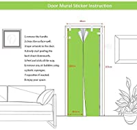ドアウォールステッカーハロウィンホラゴーストハンド3Dドアステッカー粘着性PVC壁纸DIYホームパーティードアドーデコレンショーシミュレンショスポー-77cm(W)* 200cm(H)-77x200厘米