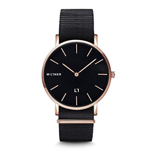 Millner Hallfieeld MLW0032 - Reloj de hombre de acero y tela