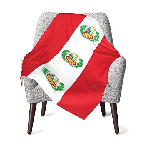 AOOEDM - Manta para bebé con bandera de Perú, cómoda y suave, manta para recién nacidos, térmica, transpirable, manta de recepción, agradable para la piel, mantas para envolver, duraderas, para niños