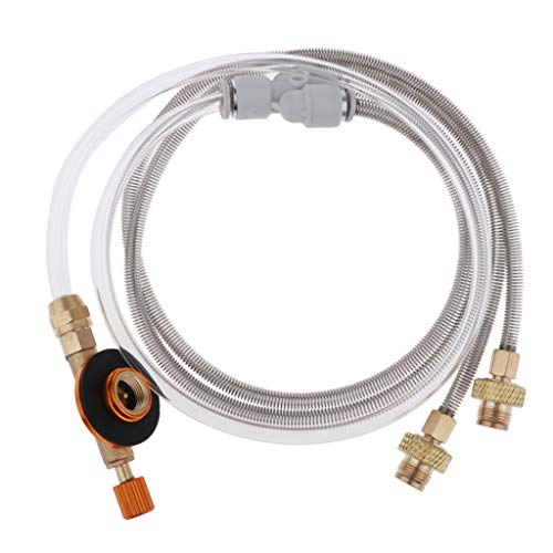 F Fityle Y Splitter Two Hose 3 FT Kit de Conexión de Regulador de Propano de Baja Presión para Gas