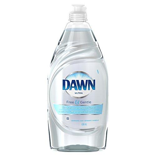 Dawn Ultra Pure Essentials Dishwashing Liquid, Sparkling Mist, 21.6 Ounce