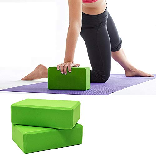 TradeVast EVA Foam Yoga Brick Block to Support and Deepen Poses, Improve Strength and Aid Balance and Flexibility, Set of 2