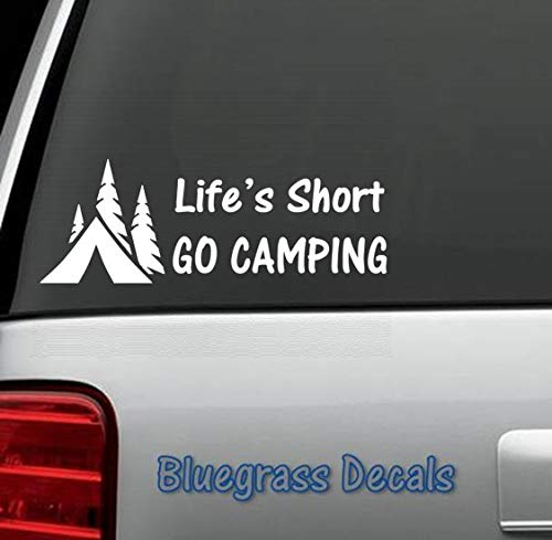 Best Design Amazing Hiker Hiking Camper Camping Tent Decal Sticker for Car Truck SUV Van Window or Laptop and Stick Decals - Made in USA