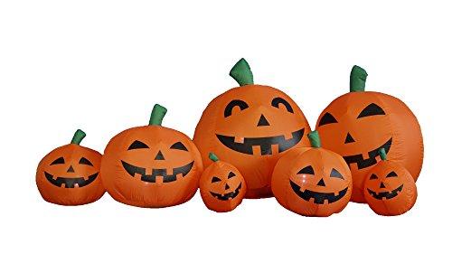 7.5 Foot Long Inflatable Halloween Pumpkins