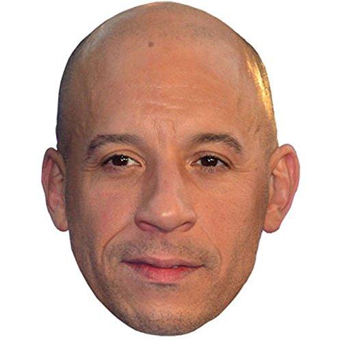 Vin Diesel Maschere di persone famose, facce di cartone