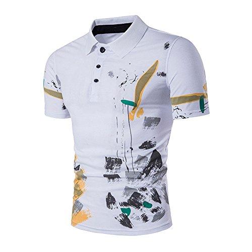 FRAUIT heren persoonlijkheid print korte mouwen vrijetijdshemd T-shirts hete sport shirts coma T-shirts voor mannen met korte mouwen