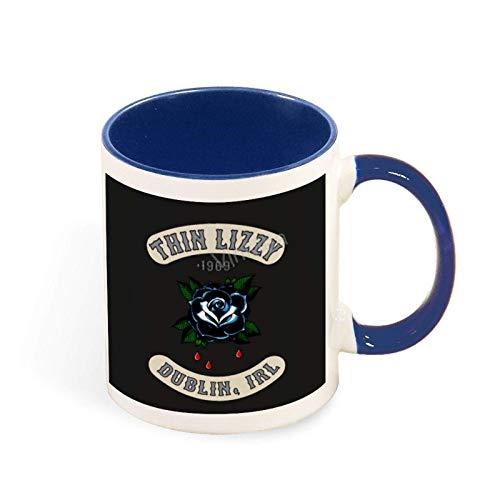 N\A Taza de café Divertida Thin Lizzy - Rosa Negra de la Isla Esmeralda Taza Divertida/Taza Personalizada de 11 oz