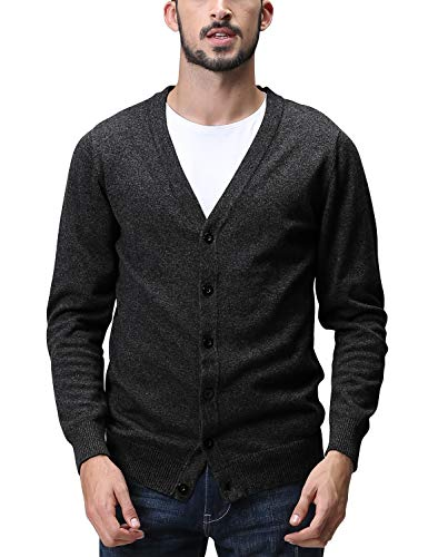 Matchstick Herren Sweatshirt Strickwaren Strickjacke #1522(1522 Heather Charcoal,Tag Size 3XL(DE XL))