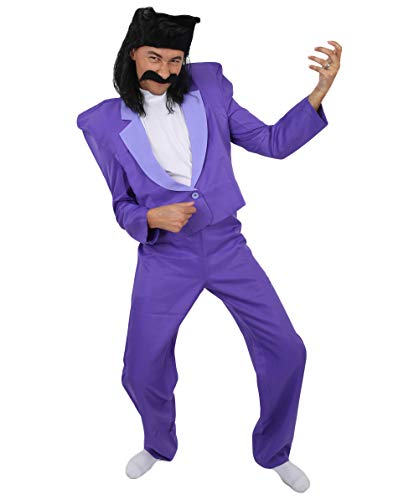 Balthazar Bratt Suit Costume | Despicable Me 3 Cosplay (X-Small, Multi)