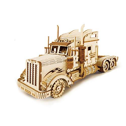 BOLANA 3D Holz Puzzle Zug Modell DIY Holzzug Spielzeug Mechanische Zug Modell Kit