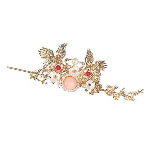 Non-brand Chinesische Art Haar Stock Goldenes Haar Coronet Haarnadel Frauen Haar